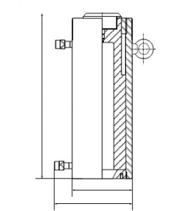 Цилиндр гидравлический чертеж