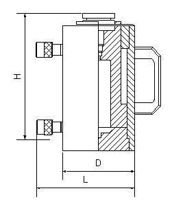 Домкрат грузовой алюминиевый с гидравлическим возвратом