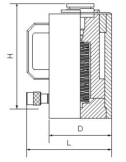 Домкрат алюминиевый с пружинным возвратом чертеж