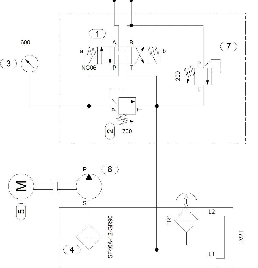 Гидравлическая схема насосной станции линейки НЭЭ ...П...